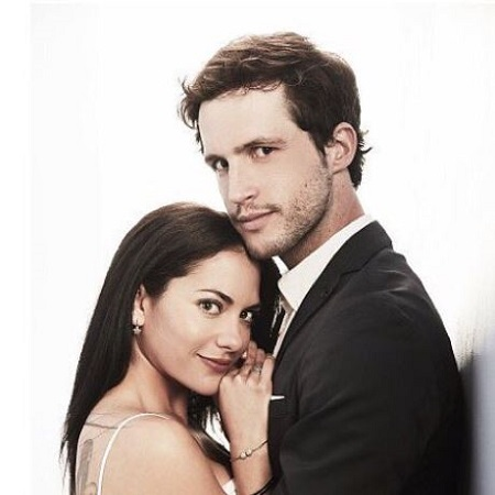 Inbar Lavi and her Imposters co-star Rob Heaps.