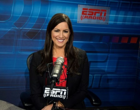 The sports journalist currently serves for ESPN radio and TV network.
