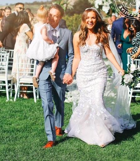Matthew Alan and His Newly Bride, Camilla Luddington With Their Daughter Hayden During Their Wedding Day