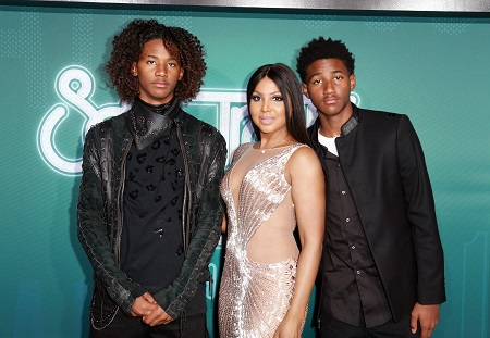 Diezel Ky Braxton-Lewis With Her Mom, Toni Braxton and a Brother, Denim