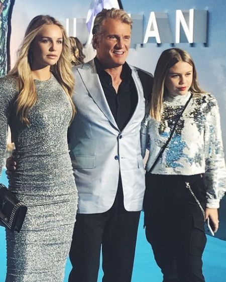 Dolph Lundgren With His Daughters, Ida Sigrid Lundgren and Greta Eveline Lundgren