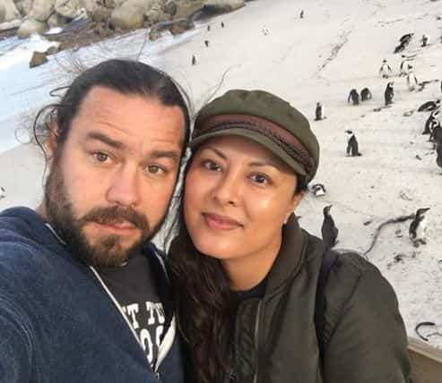 Chris Pontius and wife