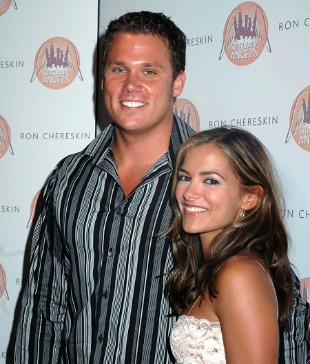 Bob Guiney With His First Wife, Rebecca Budig