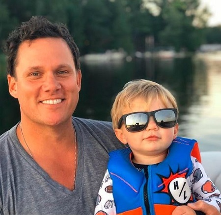 Bob Guiney With His One and A Half Years Old Son, Grayson Robert Guiney Born In Decemeber 2018