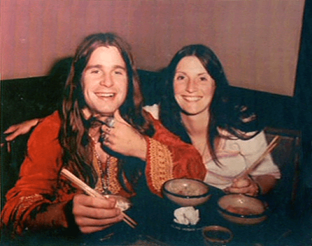 Ozzy Osbourne With His Divorced Wife, Thelma Riley