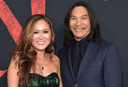 The actor Jason Scott Lee and his wife Diana Chan attended the premiere of his latest movie Mulan.