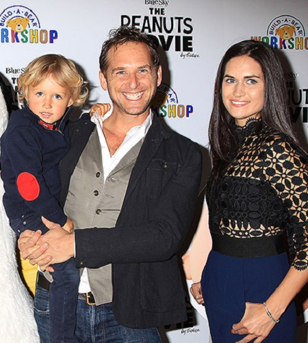 Noah Rev Maurer With His Mom, Jessica and Dad, Josh Lucas