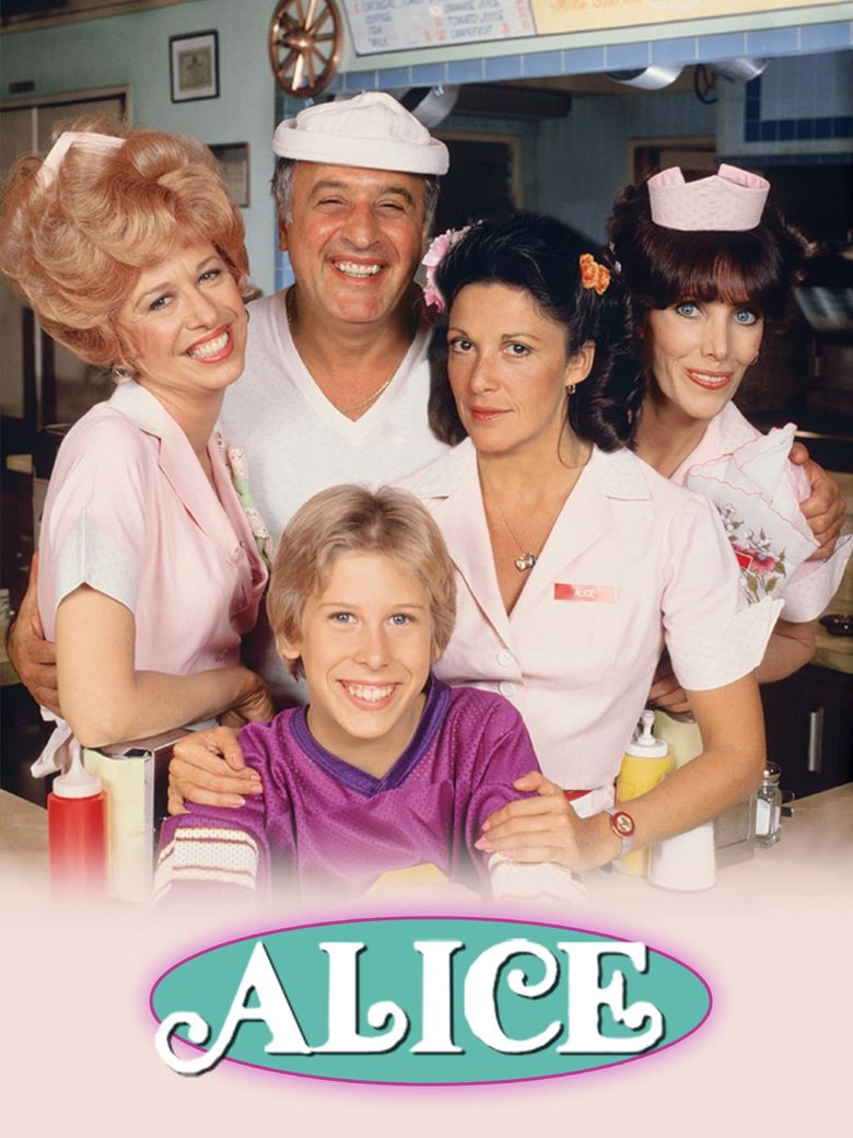 Late Philip McKeon with his co-actors from television show, Alice.