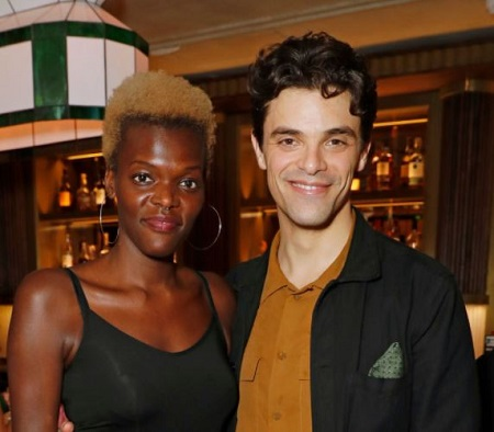 The British actors Jacob Fortune Lloyd and Sheila Atim attended the press night after party for 'The Importance Of Being Earnest' on August 2, 2018, in London, England.