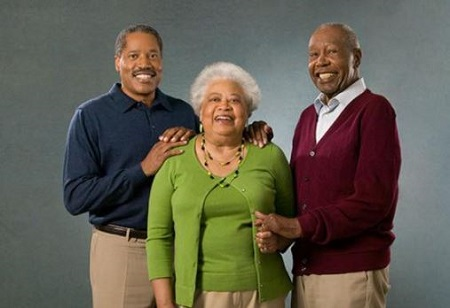 Larry Elder (left) with his mother, late. Viola Conley Elder and father, late. Randolph Elder (right).