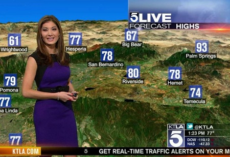 The American meteorologist Liberte Chan works as a reporter for KTLA 5, CW affiliated TV station.
