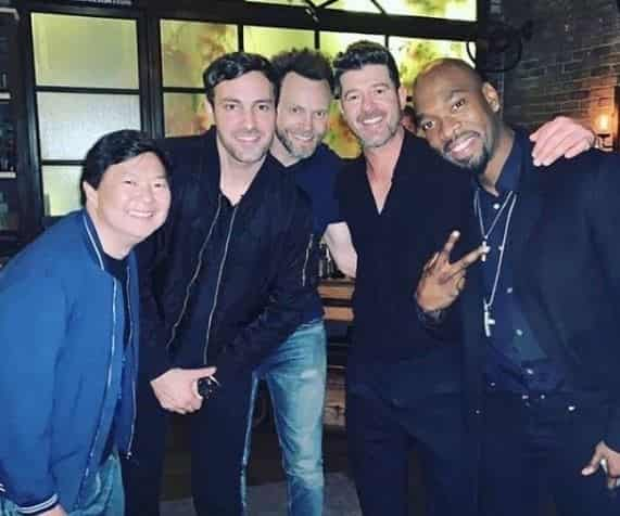 Ken Jeong with his friends