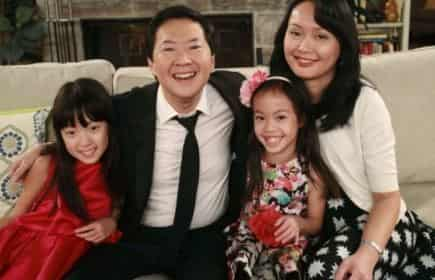 Ken Jeong spouse, Tran Ho and daughtes