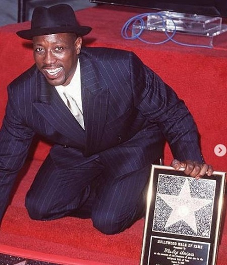 The actor Wesley Snipes, who received a star on the Hollywood Walk of Fame has a net worth of around $10 million.