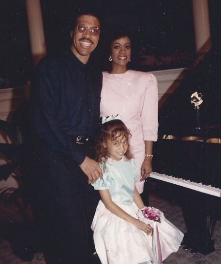 Brenda Harvey-Richie and Lionel Richie With Their Daughter Nicole Richie