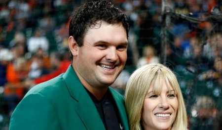 Patrick Reed and his wife, Justine karain Reed.