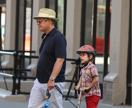 Nathaneal Spader With His Father, James Spader