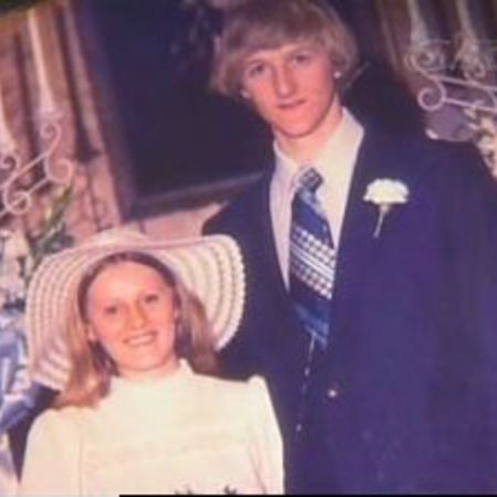 Janet Condra and her ex-husband Larry Bird