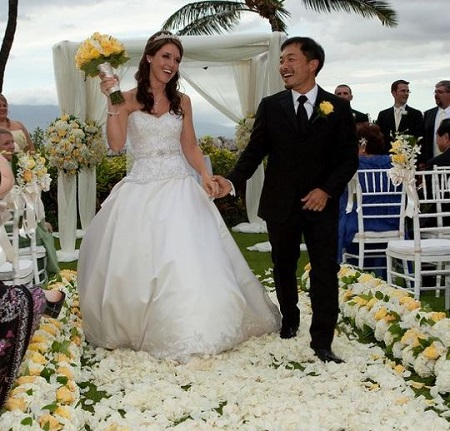 Image: The comic book artist Jim Lee is married to his wife Carla Michelle Lee since September 6, 2009.