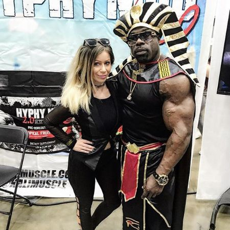Kali Muscle with his wife Dvyne Beverley