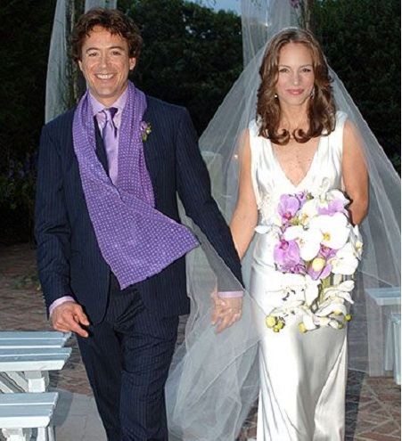 The Wedding Picture Of Robert Downey Jr. and His Second Wife, Susan Downey