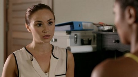 Emma Pierson as Dr Anna Jones in Death in Paradise