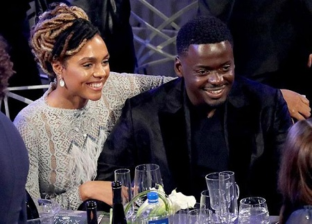 Daniel Kaluuya and His Girlfriend, Amandla Crichlow AT The Dinner Party