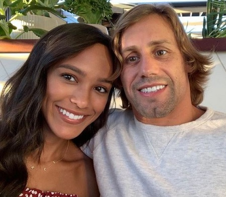 Urijah Faber and his fiancee Jaslyn Faber.